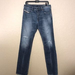 Men 34 x 34 Diesel Larkee Relaxed Desroyed Jeans